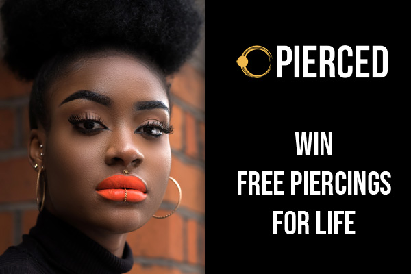 win free piercings for life